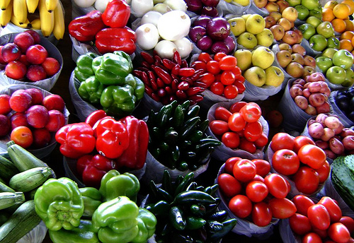 rainbow of produce
