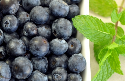 blueberries, mint, healthy snacks, groceries, food, mindful eating