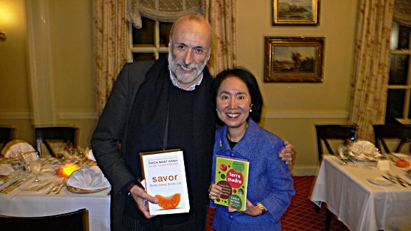 Carlo Petrini and Dr. Lilian Cheung Slow Food Movement